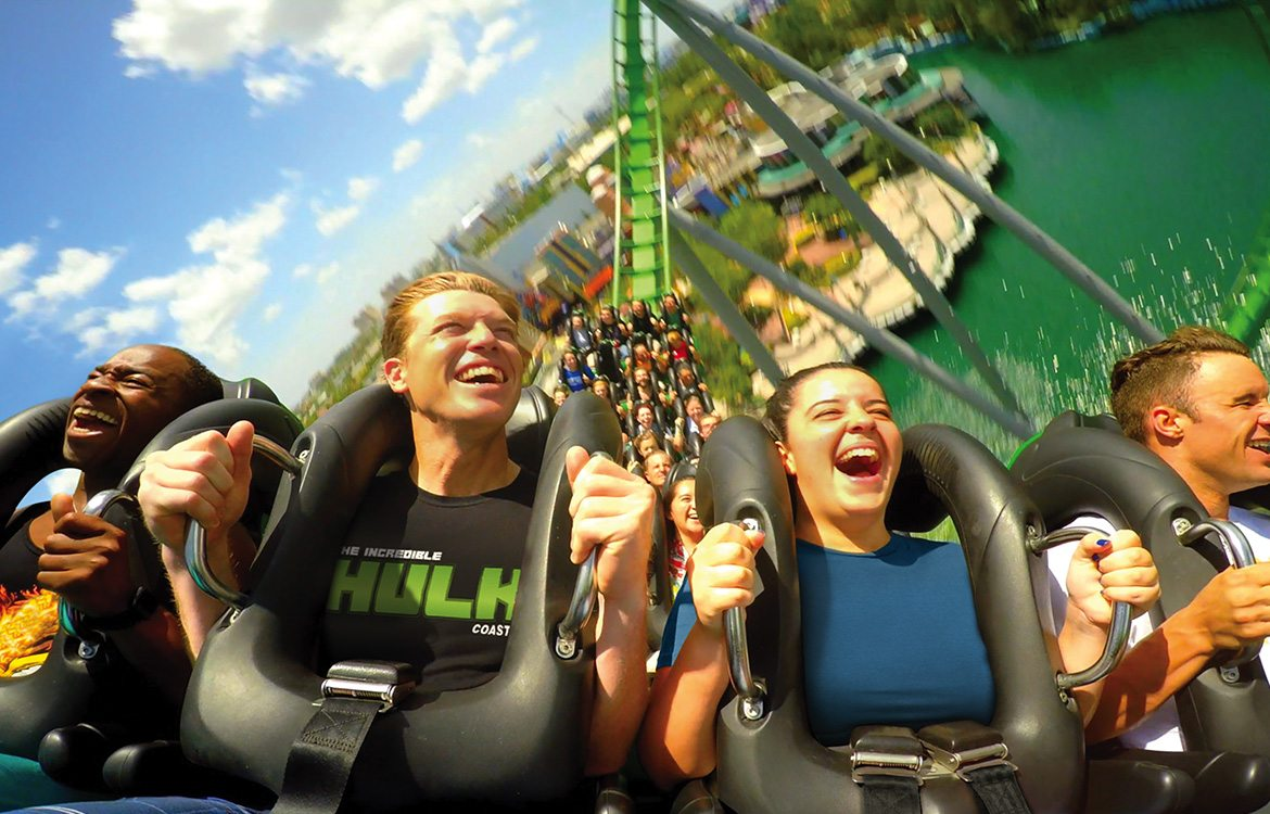 Hulk Rollsercoaster at Universal Resort