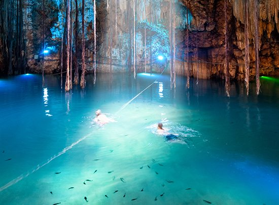 things to do in Cancun - cenote swimming