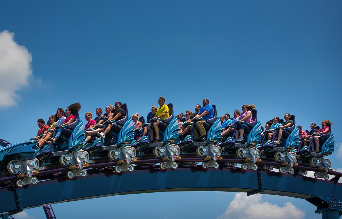 mako rollercaoster at seaworld